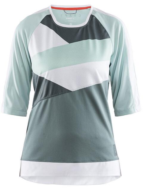 Craft Hale XT Fietsshirt korte mouwen Dames groen/wit